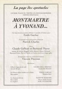 1996 Monmartre à Yvonand