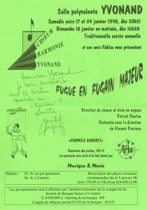 1998 Fugue en Fugain majeur